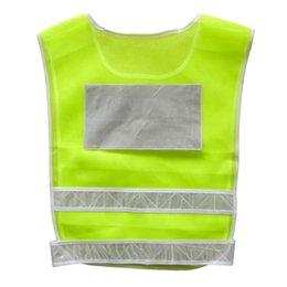 Wholesale High Visibility Motorcycle Vests - Car Motorcycle Reflective Safety Clothing High Visibility Safety Reflective Hi Viz Vest Warning Coat Reflect Stripes Tops Jacket