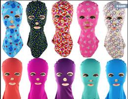 Wholesale Gold Pool - Fashion Facekini Pool Head Sunblock UV Sun Protection Face Mask Swim Mask submersible swimming cap basic