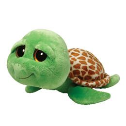 Wholesale Plush Stuffed Turtles - Zippy turtle 15cm green tortoise collection Plush Toy Stuffed Animal Doll Kids Toy Doll Birthday Gift Hot Sale