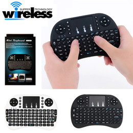 Wholesale Remote Control Pc Media - 2016 Wireless Keyboard rii i8 keyboards Fly Air Mouse Multi-Media Remote Control Touchpad Handheld for TV BOX Android Mini PC B-FS