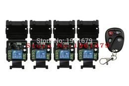 Wholesale 315 mhz remote - Wholesale- DC 12 v mini wireless remote control switch 1 channal system 4X receiver+1X transmitter 315 433 MHz