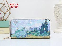 Wholesale Card Holder Cheap - Hot! wholesale 2017 M famous brand fashion single zipper cheap luxury women pu leather wallet lady ladies woman long purse V6017