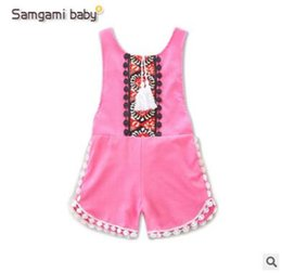 Wholesale Wholesale Bodycon Clothing - Baby Floral Romper 2017 Summer Sleeveless Bodycon Jumpsuit Baby Onesies Girl Jumpsuit Toddler Outfit Infant Outwear Bodysuit Baby Clothes 96