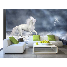 Wholesale Horse Housing - High Quality Customize size Modern High Quality Costom Modern horse 3d wallpaper wall papers for tv backdrop