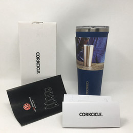 Wholesale Green Travel Mugs - Corkcicle Tumbler-Classic Collection-Triple Insulated Travel Mug, 24 oz Matte Blue Steel Stainless Steel