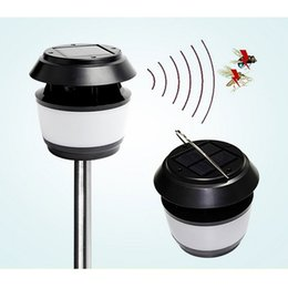 Wholesale Portable Mosquito - Ultrasonic Insect Mosquito Zapper Repellent Lamp Outdoor Solar Lamps Solar Lawn Garden Light Portable Solar Powered Street Light