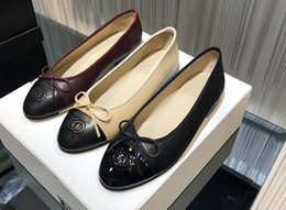 Wholesale Office Dress Pregnant - Flat shoes women leather bowknot round head pregnant women shoes and comfortable big yards flat with shallow women's shoes