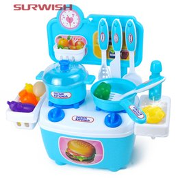 Wholesale Pretend Play Kitchens - Wholesale- Surwish Children Cooking Play Kitchen Toys Pretend & Play Baby Kids Home Educational Toy