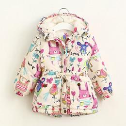 Wholesale Baby Fashion Hoodies - Winter Children Outwear Baby Kids Warmth Coat Graffiti Jacket Windbreaker Fashion Floral Hoodies Outwear 5 p l
