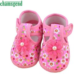 Wholesale Baby Girl Crib Boots - CHAMSGEND baby shoes Baby Flower Boots Soft Crib Shoes for girls children footwear baby girl shoes Best seller drop ship S25