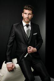 Wholesale Unique Men S Wedding Suits - Unique Design Exquisite Dramatic Male Suits Peaked Lapel One Butten Tie Groomsman Tuxedos Men Wedding Suits Jacket+Pants+Vest