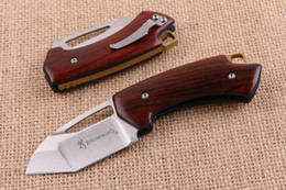 Wholesale Browning Eagle - BROWNING Little Eagle D2 blade EDC Folding Pocket Knife Handle Camping Hunting Knife back Lock xmas gift knife for man 1pcs
