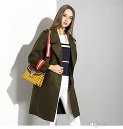casacos americanos para senhoras Desconto Mulheres de Inverno Misturas De Lã Casacos 2016 Europeus e Americanos Senhoras Casaco Casacos frete grátis