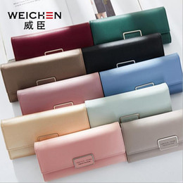 Wholesale interior wall color - Wholesale brand bag new candy color woman wallet contracted many screens lend hand bag with high quality large capacity buckles leather wall