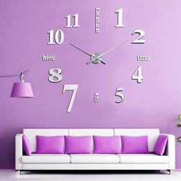 Discount Antique Silver Wall Clock   Wholesale DIY Digital Large Wall Clock  Watch Unique Tyrant