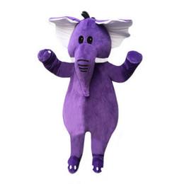 Wholesale Adult Mascot Costume Elephant - Purple elephant Mascot Costumes Cartoon Character Adult Sz 100% Real Picture