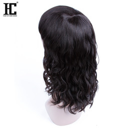 Wholesale Black Women Hair Products - HC Hair Products None Lace Wigs Human Hair Malaysian Natural Wave 12inch For Black Women Natural Color