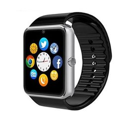 Wholesale Black Health Bracelet - GT08 Bluetooth Smart Watch Phone with SIM Card Slot and NFC Smart Health Wrist Watch for Android and IOS Bracelet Smartwatch