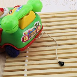 Wholesale Musical Telephone - Ideas pull small smile simulation telephone children play house gift Toy Musical Instrument