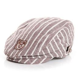 Wholesale Baby Baseball Hat Beret - Fashion Infant Kids Baby Cool Boy Girl Child Stripes Peaked Baseball Beret Cap Sun Hat