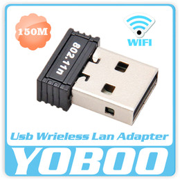 Wholesale Usb Wifi Chip - Wholesale- new arrive wifi dongle RTL8188 chips Mini 150Mbps USB Wireless Network Card WiFi LAN Adapter Antenna 802.11n b g