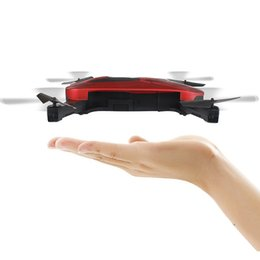 Wholesale Hold Camera - 2.4G Portable JY018 Foldable Mini Selfie Drone Pocket Folding Quadcopter Altitude Hold Headless WIFI FPV Camera RC Helicopter Toys