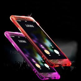 Wholesale Light Up Phone Cases - TPU PC LED Flash Light Up Phone Case for Iphone X 7p 8P 7G 8G 6P 6G Samsung 8 8Plus 7 7edge