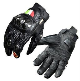 Wholesale Women Leather Motorcycle Gloves - 2017 New Motogp Rossi VR46 Motorcycle gloves Motocross racing off-road full leather carbon fiber Protection knight gloves