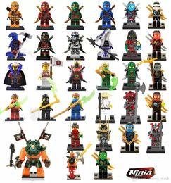 Wholesale Ninjago Action Figures - 31pcs Ninjago figures marvel super heroes minitoy building blocks figures bricks toys action figure free shipping