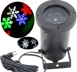 Wholesale Christmas Lights For Outdoors - Outdoor Christmas LED snowflake garden lights White and RGB snow Laser lights lawn lamp for garden Lighting home decoration holiday light