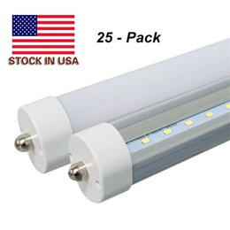 Wholesale Fluorescent Tube Fixtures - LED Tubes 8ft Fixture 6000K FA8 Single Pin LED T8 8ft Tube 45W Ballast Bypass 8 feet LED Fluorescent Tubes Lamp AC85-265V