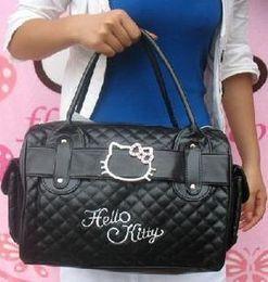 Wholesale Woman Kitty - Wholesale-Luxury famous brand women female ladies casual bags leather hello kitty handbags shoulder tote bag bolsas femininas couro