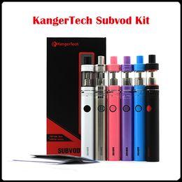 Wholesale E Cig Kanger - Authentic KangerTech Subvod Kit E Cig 1300mA 60W 3.2ml Toptank Nano Atomizer SSOCC 0.5 Ohm vs kanger subox mini