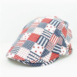 Canada Gros-2015 mode unique artiste peintre style de grille à carreaux bleu rouge coton bérets casquettes chapeau avec pour femmes adultes hommes unisexes réglable cheap adult blue plaid hat Offre