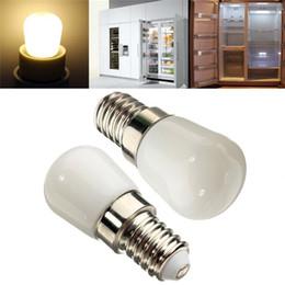 Wholesale Fridge Bulbs - Wholesale- Mini LED Light Bulb E14 2W 100LM Refrigerator Fridge Spot Light Lamp Corn Bulbs White Warm White Lighting AC220-240V