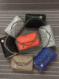 Wholesale Pictures Factory - Factory Falabella MINI Shaggy Deer PVC Quilted chain bag With Cover REAL PICTURE