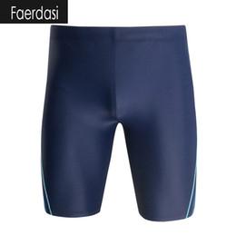 Wholesale Mens Xxl Beach Shorts - 2017 New Men Swim Shorts Navy Blue Black Surfing Swimming Shorts Mens Swimsuit Long Style Swimming Trunks Beach Pants Swimwear