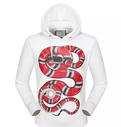 Wholesale 3d Animal Sweatshirts - Brand new 3D Snake luxury Hoodies Black Pink White Hoody Sweatshirts Kanye g&g West Style Streetwear Men Hoodies