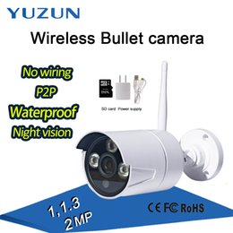 Wholesale Wireless Home Security Video Monitor - 720P 1080P P2P white night vis wireless Home security mini bullet baby cctv monitor IP66 waterproof wifi ip outdoor camera with wifi hotspot