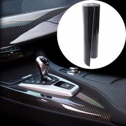 "Wholesale Graphic Film Carbon Fiber - Wholesale- 1PC Car 5D Ultra Shiny Glossy Black Carbon Fiber Vinyl Graphics Decals 12""x60"" Wrap Sticker Decal"