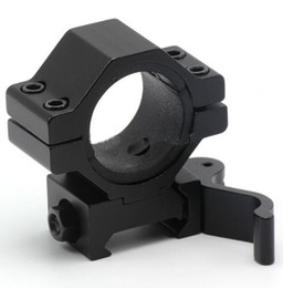 Wholesale Rail Mounted Flashlight - 30mm 25.4mm 1inch Quick Release Scope Mount Ring Adapter 20mm Rail Weaver Picatinny Mounts QD Flashlight Laser Mount for Hunting