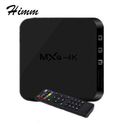 Wholesale Enjoy Tv - New MXQ-4k Android TV Box Support UHD 4K Dlna Miracast Enjoy 3D Movies Games Surffing On TV Quad core Cortex A7
