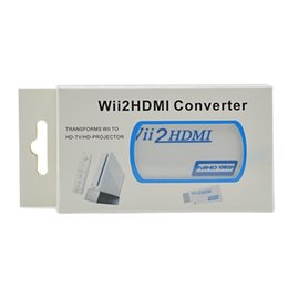Wholesale Full Video Converters - Wii to HDMI Wii2HDMI Adapter Converter 3.5 Jack Audio Video Output Full HD 720P 1080P HDTV Monitor Display