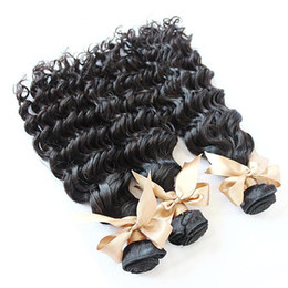Wholesale Deepwave Hair - Wholesale - Unprocessed Hair Weave Peruvian Virgin Human Hair Extension 100g pcs straight deepwave Body Wave hair Weft FastShipping