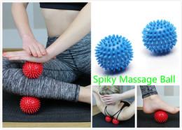 Wholesale Spiky Balls - Yoga Point Massage Ball Spiky Massage Ball Stress Relief Foot Arm Neck Back Body Massage Trigger Roller Help Blood Circulation
