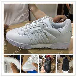 Wholesale Hard Plastics - Original Powerphase Calabasas CQ1693 NEW Kanye West Calabasas Men Women Sneakers leather upper with lateral Calabasas Outdoor Shoes US 5-11