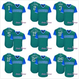 Wholesale Baseball Brother - Seattle Mariners Coreys Brother Boomstick King Felix Zoombiya El Conde Zunino Gamel El Mambo Kuma Zep 2017 Little League World Series Jersey