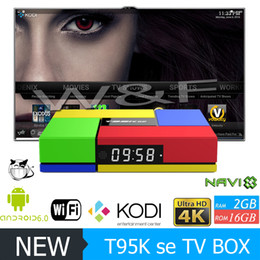 Wholesale Marshmallow Wholesale - T95K PRO SE Android TV box Amlogic S905X Quad Core Android 6.0 Marshmallow 2GB 16GB PK X96 T95N MXQ PRO 4K