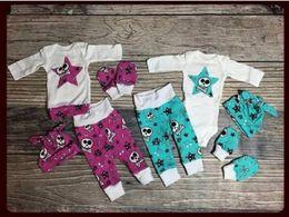 Wholesale Girls Fancy Summer Hats - Baby Halloween Onesies Wholesale Girl Boys Fancy Outfit Toddler Clothing Set 3PCS Halloween Romper Set Bodysuit Cotton Jumpsuit+Pants+Hat
