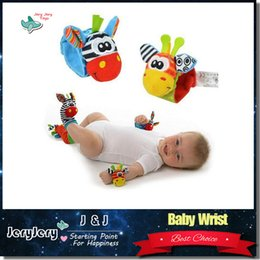 Wholesale Toy Ring Baby - Sozzy Soft Baby Toy Wrist Strap Rattle Ring Bells Lovely Cute Cartoon Animal Shape For Infant Birthday Gifts Unisex